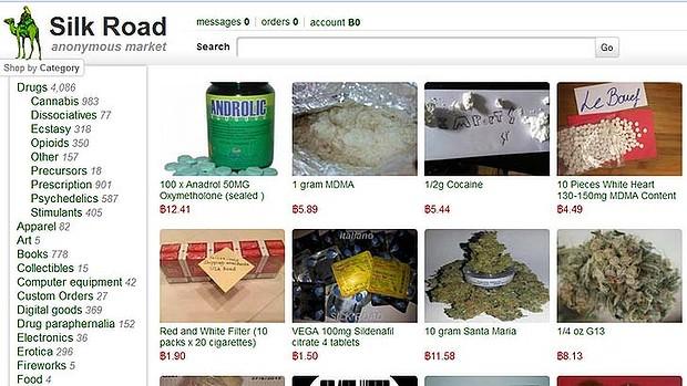 Screenshot of Silk Road webpage