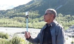 Obama taking a velfie. Courtesy: White House