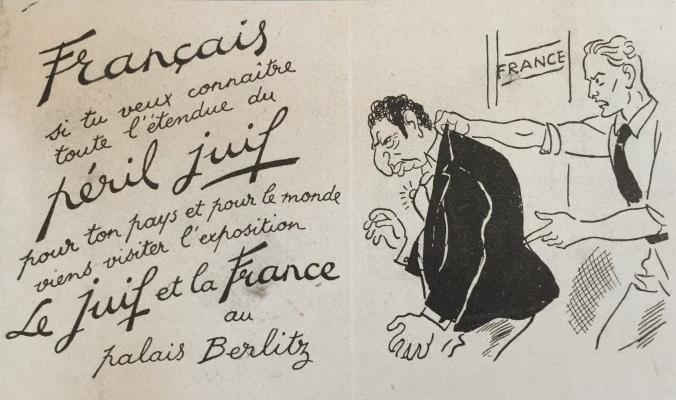 Le juif et la France 5 septembre 1941 Palai Berlitz